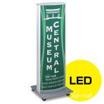 LED式電飾スタンド看板 ADO-800-2-LED カラー:シルバー (ADO-800-2-LED-S)