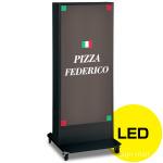 LED式電飾スタンド看板 ADO-920N2E-LED-B ブラック 高さ1500mm