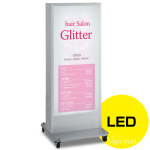 LED式電飾スタンド看板 ADO-920NE-LED-S6 シルバー 高さ1500mm