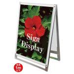 ポスター用スタンド看板セパレートポケット 屋内用 規格:A1ロウ 両面 ホワイト (PSSKSP-A1LRW)