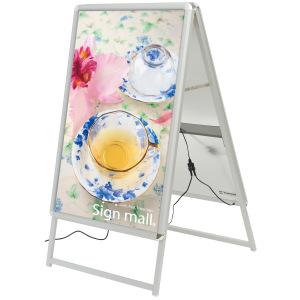 A型看板 LEDグリップA A1サイズ 仕様/カラー:両面/シルバー (39411***)