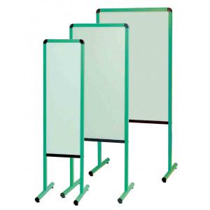 カラフル案内板 両面スチールカラーボード グリーン サイズ:W630 (YAE600GG)