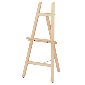 【在庫限り廃番】木製イーゼル12 B2パネル用 白木タイプ(HEWC-12)